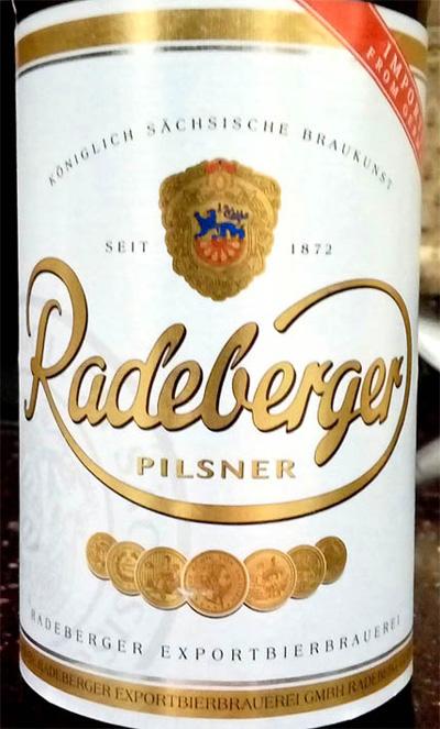Отзыв о пиве Radeberger pilsner