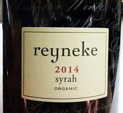 Отзыв о вине Reyneke syrah organic 2014