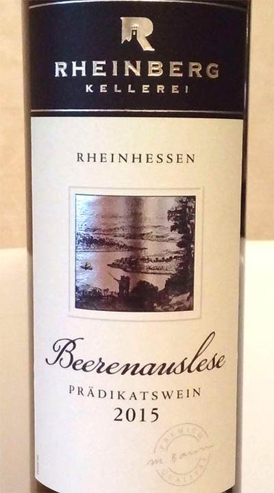 Отзыв о вине Rheinberg beernauslese kellerei 2015