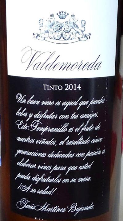 Отзыв о вине Valdemoreda tinto 2014