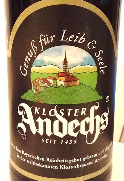 Отзыв о пиве Andechser Weissbier Dunkel kloster