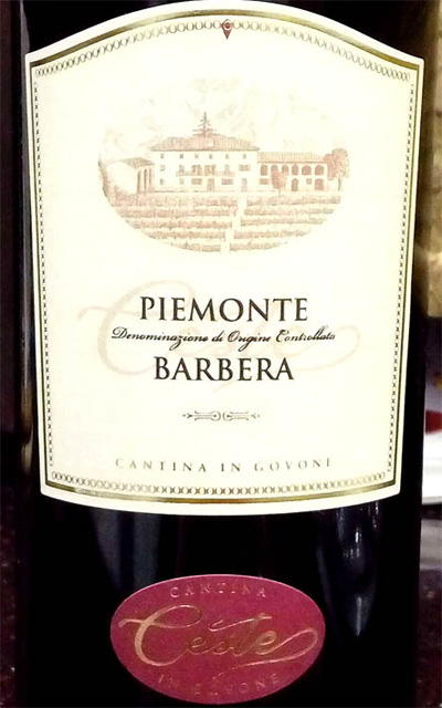 Отзыв о вине Ceste Barbera Piemonte 2014