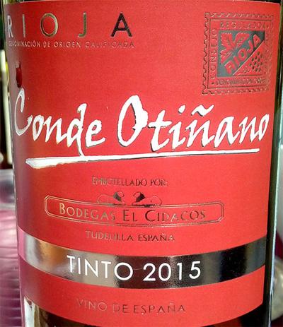 Отзыв о вине Conde Otinano tinto 2015