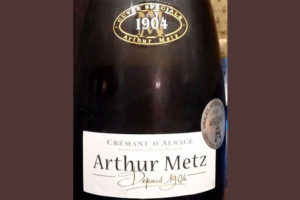 Отзыв об игристом вине Cremant d'Alsace cuvee speciale Arthur Metz 2016