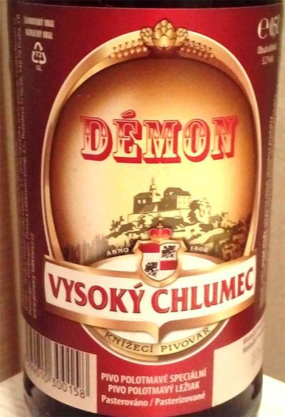 Отзыв о пиве Demon Vysoky Chlumec polotmave