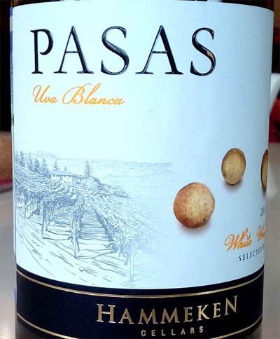 Отзыв о вине Pasas uva blanca Hammeken cellars 2016