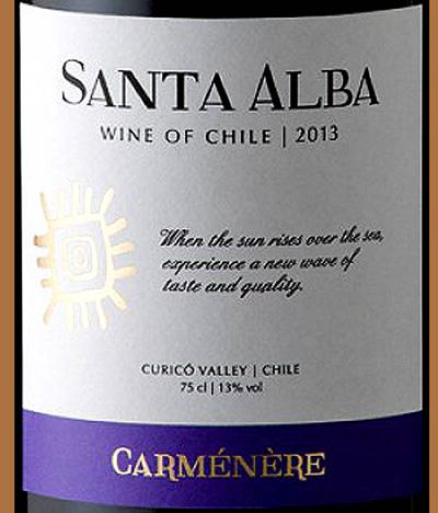 Отзыв о вине Carmenere Sante Alba 2013