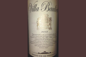 Отзыв о вине Villa Beaulieu rouge grand vin de Provence 2012