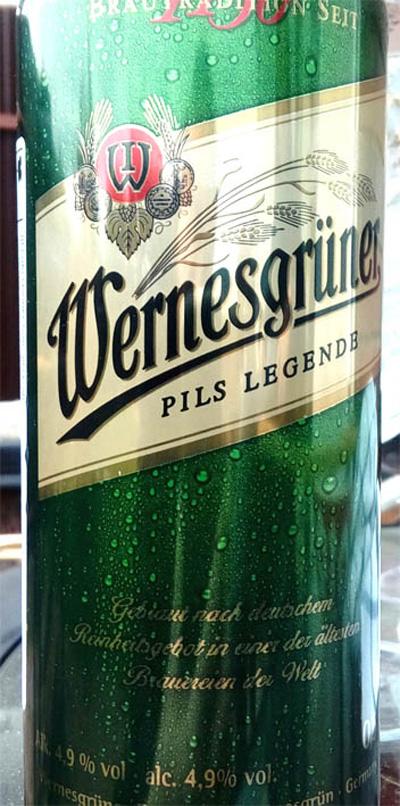 Отзыв о пиве Wernesgruner pils legende