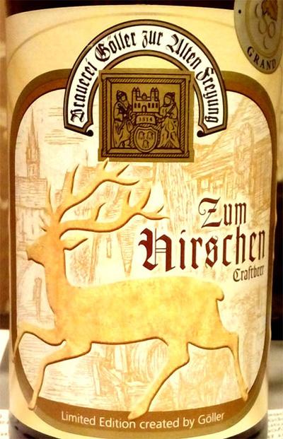 Отзыв о пиве Zum Hirschen craftbeer Goller