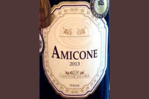 Отзыв о вине Amicone cantine di ora 2013