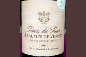 Отзыв о вине Beaumes de Venise Terres du Trias cru 2014