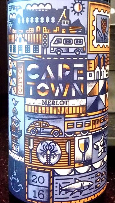 Отзыв о вине Cape Town merlot 2016