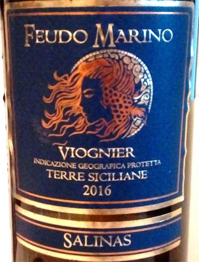 Отзыв о вине Feudo Marino viognier terre siciliane 2016