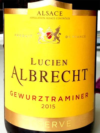 Отзыв о вине Lucien Albrecht gewurztraminer reserve 2015