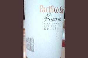 Отзыв о вине Pacifico Sur carmenere reserva 2016