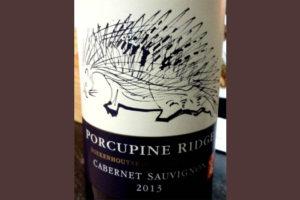 Отзыв о вине Porcupine ridge cabernet sauvignon 2013