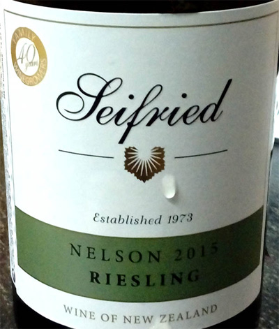 Отзыв о вине Seifried risling 2015