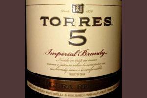 Отзыв о бренди Torres 5 Solera reserva Imperial brandy 0,7 л