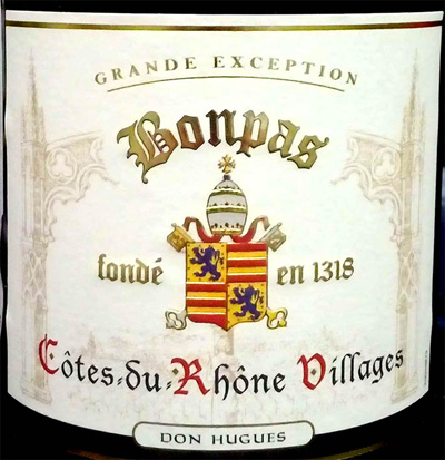 Отзыв о вине Bonpas Cotes du Rhone Villages Don Hugues 2015