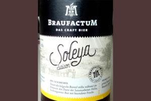 Отзыв о пиве Braufactum Soleya saison