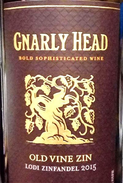 Отзыв о вине Gnarly Head old vine zin 2015