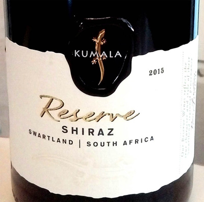 Отзыв о вине Kumala shiraz reserve 2015