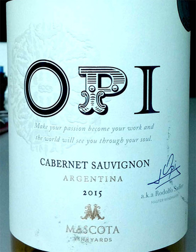 Отзыв о вине OPI cabernet sauvignon Mascota 2015