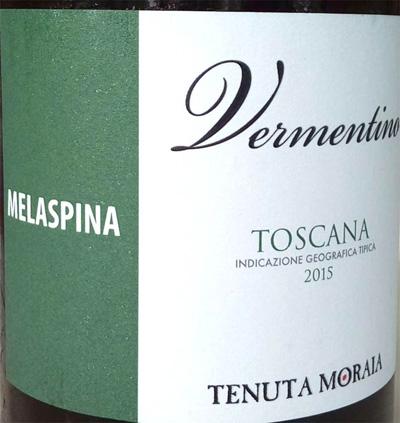 Отзыв о вине Tenuto Moraia Vermentino Melaspina 2015