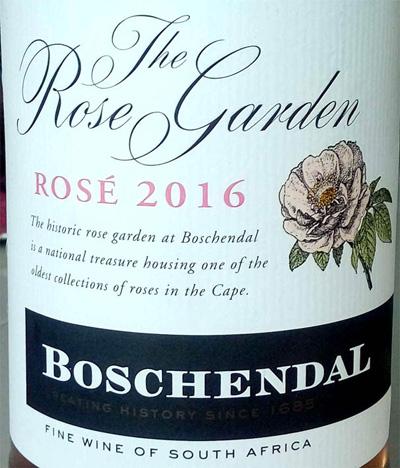 Отзыв о вине The Rose Garden rose Boschendal 2016