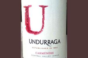 Отзыв о вине Undurraga carmenere 2015