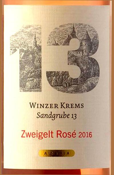 Отзыв о вине Winzer Krems Sandgrube 13 Rose Zweigelt 2016