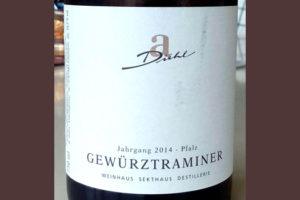 Отзыв о вине A.Diehl gewurztraminer 2014