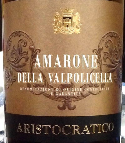 Отзыв о вине Amarone della Valpolicella Aristocratico 2013