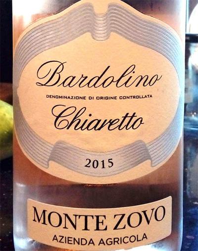Отзыв о вине Bardolino Chiaretto Monte Zovo 2015