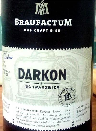 Отзыв о пиве Braufactum Darkon schwarzbier