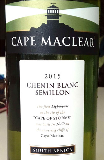 Отзыв о вине Cape Maclear chenin blanc semillon 2015