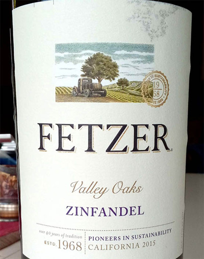 Отзыв о вине Fetzer Zinfandel Valley Oaks 2015