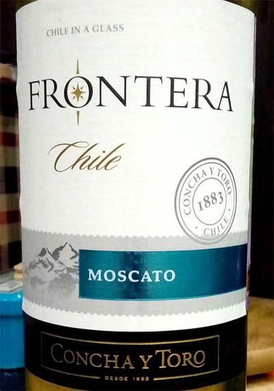 Отзыв о вине Frontera Moscato Concha y Toro 2015