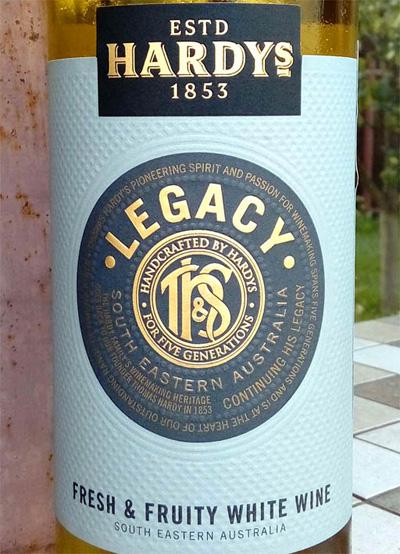 Отзыв о вине Hardy's Legacy white wine 2015