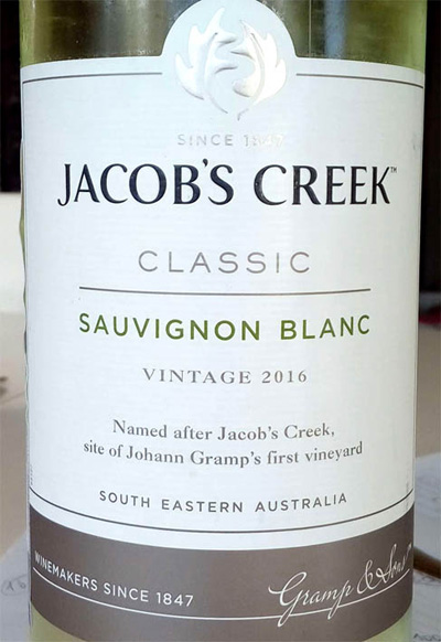 Отзыв о вине Jacob's Creek sauvignon blanc classic 2016
