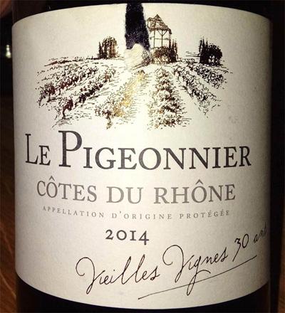 Отзыв о вине Le Pigeonier Cot-du Rhone 2014
