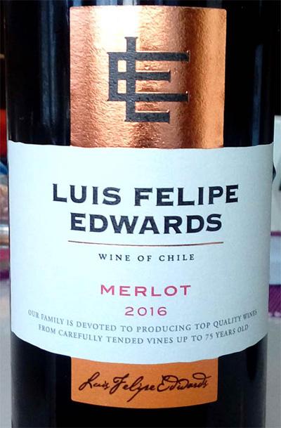 Отзыв о вине Luis Felipe Edwards merlot 2016