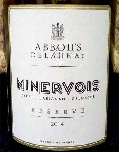 Отзыв о вине Minervois reserve Abbotts & Delaunay 2014