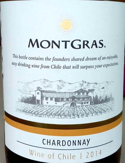 Отзыв о вине MontGras Chardonnay 2014