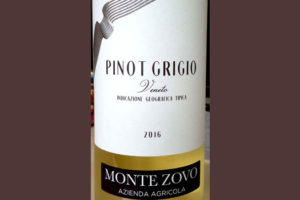 Отзыв о вине Monte Zovo Pinot Grigio 2016