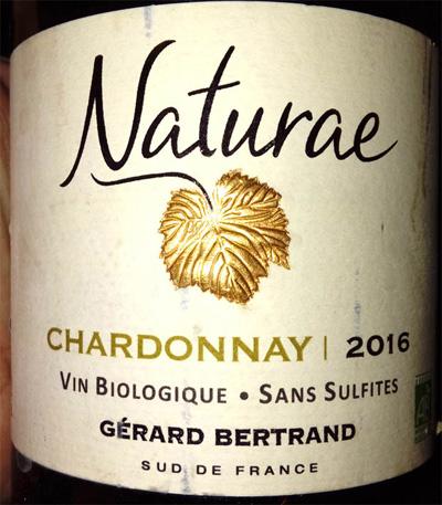 Отзыв о вине Naturae Chardonnay Gerard Bertrand biologique 2016