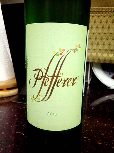 Отзыв о вине Pfefferer 2016
