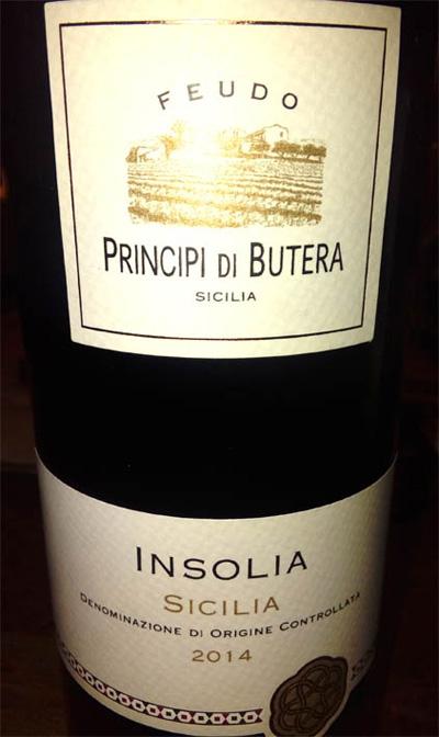 Отзыв о вине Principi di Butera Insolia Sicilia 2014