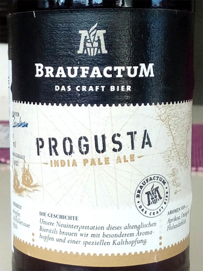 Отзыв о пиве Progusta Indian Pale Ale